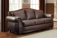 Home Elegance Midwood 9616BRW-3 SOFA , BROWN,BONDED MATCH