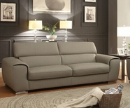 Home Elegance Noemi 8534-3 SOFA, GENUINE TOP GRAIN LEATHER MATCH SPLIT