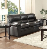 Home Elegance Talon 8511BK-3 SOFA, BLACK BONDED MATCH