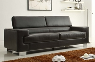 Home Elegance Vernon 9603BLK-3 SOFA, BLK ALL BND LTHR