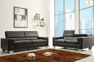 Home Elegance Vernon 9603Blk Sofa Set