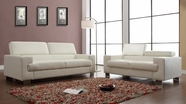 Home Elegance Vernon 9603Wht Sofa Set