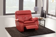 Home Elegance Wallace 9604RED-1 GLDR RLNR CHAIR, RED BND LTHR