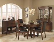 Homelegance 1205-54-1205PUS Avalon Round Pedestal Dining Table Set