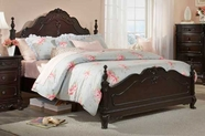 Homelegance 1386NC-1-2-3 Cinderella Dark Cherry Queen Bed