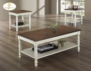 Homelegance 1393W-31 3PC PACK OCC TABLE, W
