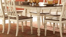 Homelegance 1393W-78 Ohana White Dining Table