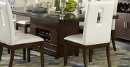 Homelegance 1410-92 Elmhurst Dining Table With Wine Storage