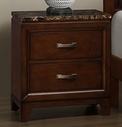 Homelegance 2112-4 Night Stand, Paper Marble Top