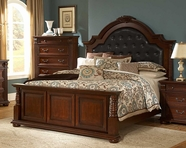 Homelegance 2117K-1-2-3EK Silas E King Bonded Leather Bed