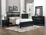 Homelegance 2119BK-1-3-5-6 Black Sanibel Bedroom Set
