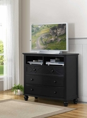 Homelegance 2119BK-11 TV CHEST, BLACK