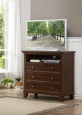 Homelegance 2136C-11 TV CHEST, WARM CHERRY