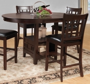 "Homelegance 2423-36 Cntr Hght Table, 18"" Leaf"