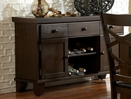 Homelegance 2438-40 SERVER, WALNUT VENEER