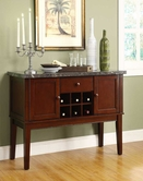 Homelegance 2456-40 SERVER, MARBLE TOP