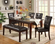 Homelegance 2456-64-2456SX4 5PC  Decatur Dining SET