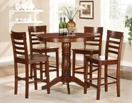 Homelegance 2457-36 5PC CNTR HGHT SET, ANT. OAK