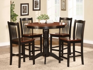 Homelegance 2458-36 5PC CNTR HGHT SET, ANT. OAK/BLK