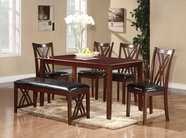 Homelegance 2459 6pcs Pack Dinette (Table + 4 Side Chairs + Bench)