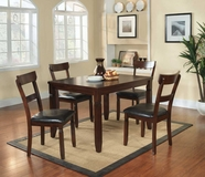 Homelegance 2469 5PC PACK DINETTE SET, ESPRESSO