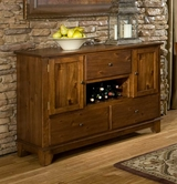 Homelegance 2489-40 SERVER, ACACIA VENEER TOP