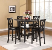 Homelegance 2514BK-36 5PC CNTR HGHT SET, BLK FIN