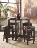 Homelegance 3219Pu-36 5 Pcs Counter Height Set