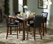 Homelegance 3273 - 36 - 24 Achillea Faux Marble Counter Height Dining Room Set