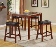 Homelegance 3273 Achillea 5-Piece Counter Height Dining Set With Faux Marble