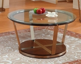 Homelegance 3304-01 Dunham Round Cocktail Table