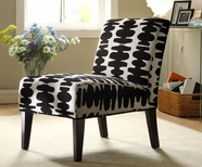 Homelegance 468F16S(3A) BLACK & WHITE FABRIC CHAIR