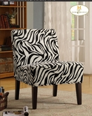 Homelegance 468F6S(3A) Lounger Chair In Fabric (Zebra)