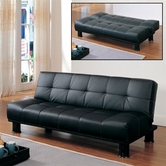 Homelegance 4791PU Black Bi Cast Sofa Bed On Sale