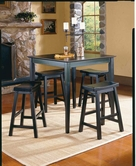 Homelegance 5302BK Saddleback 5 Pc Dinette Set