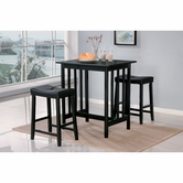 Homelegance 5310Bk 3-Piece Pack Counter Height Set
