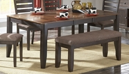 Homelegance 5341-72 Natick Dining Table With Butterfly Leaf