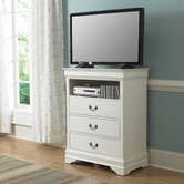 Homelegance 539W-11 TV CHEST, WHT FIN.