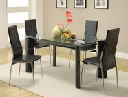 Homelegance 5445-60-5445Bks Wilner Dining Set