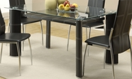 Homelegance 5445-60 Wilner Dining Table With Glass Top