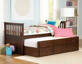 Homelegance 571Pe-1 Zachary Twin Twin Trundle Bed
