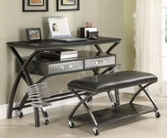 Homelegance 813-15 Spaced Out Work Station And Gaming Console With 2-Seater Bench