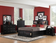 Homelegance 814Bk-1-5-6 Preston Platform Storage Bookcase Bedroom Set