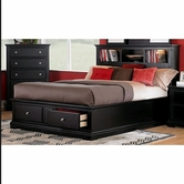 Homelegance 814Bk-1 Preston Platform Storage Kingbed With Bookcase Headboard
