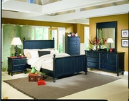Homelegance 875-1-5-6 Pottery Bedroom Collection Black