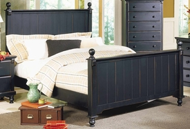Homelegance 875-1 Pottery Queen Panel Bed Black