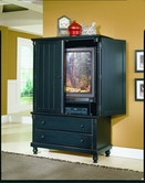 Homelegance 875-7 Pottery Armoire Black