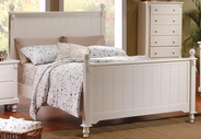 Homelegance 875W-1 Pottery Panel Bed White