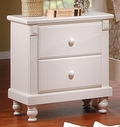 Homelegance 875W-4 Pottery Night Stand White