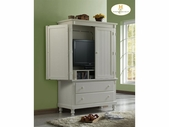 Homelegance 875W-7 Pottery Armoire White